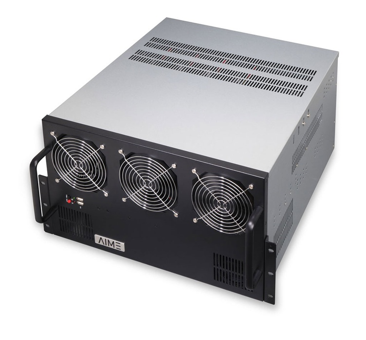 AIME R410 - 4 GPU Rack Server (top view)