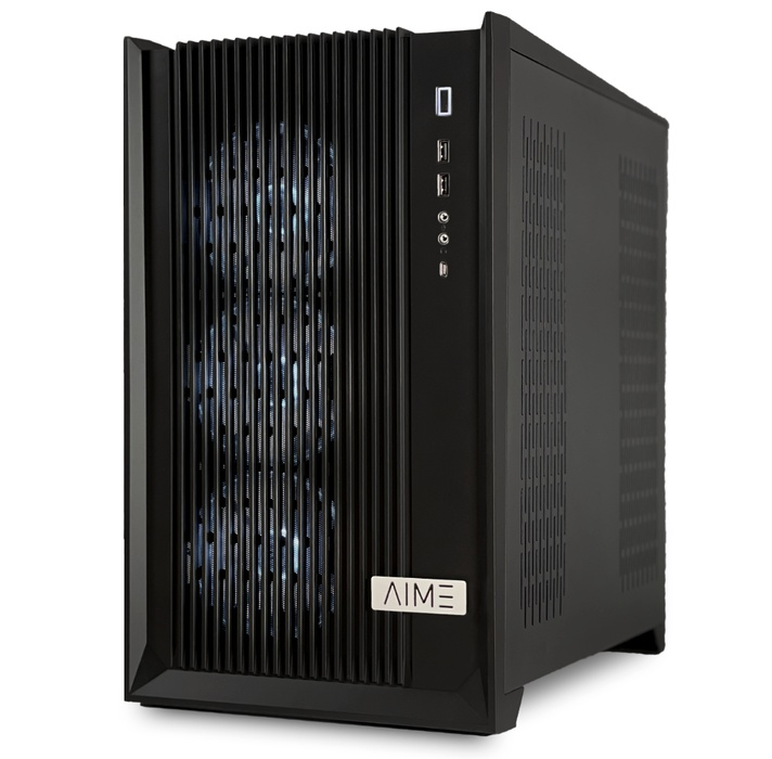 AIME T502 Multi GPU Workstation - Side right